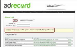 Välj kanal (webbplats/nyhetsbrev), kopiera koden och klistra in på den webbplats eller i ditt nyhetsbrev.