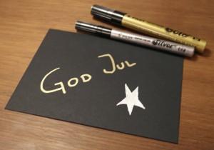 Svarta kuvert från Artoz och Super Color i guld och silver från Pilot.