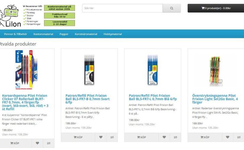 Ny webbutik: Lilon.SE flyttar till Lilon.SHOP